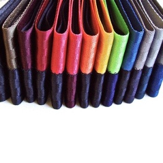 Our seatbelt wallets are available in a variety of colors.
