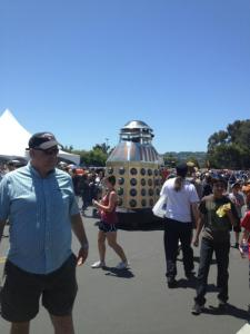 Maker Faire - where giant daleks mingle peacefully with humans.