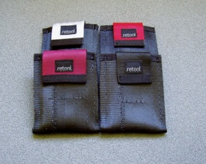 "The Micro Mini with Flap is approximately 3 3/4"" X 2 7/8"" X 1/4"". It has a pocket with flap that wraps around your cards. Pull on the flap to lift out your cards."