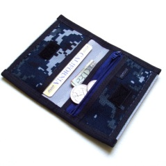 Slim Mini Deluxe Credit Card Wallet with Zipper Pocket.