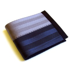 Billfold wallet in black and grey.