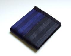 Billfold wallet in dark blue and black.
