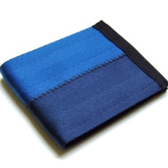 Billfold Wallet in two-tone blue.