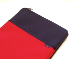 Nylon laptop case in barn red