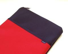 Nylon laptop case in barn red