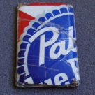 Homemade wallet from PBR carton - front