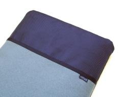 Nylon laptop case in grey