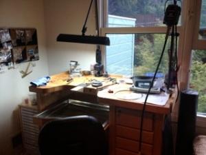 Ashley's workspace.