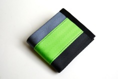 steel-black-lime seatbelt wallet
